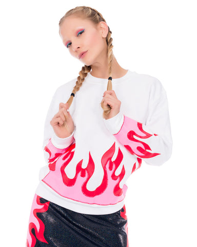 FLAMING UNISEX SWEATSHIRT