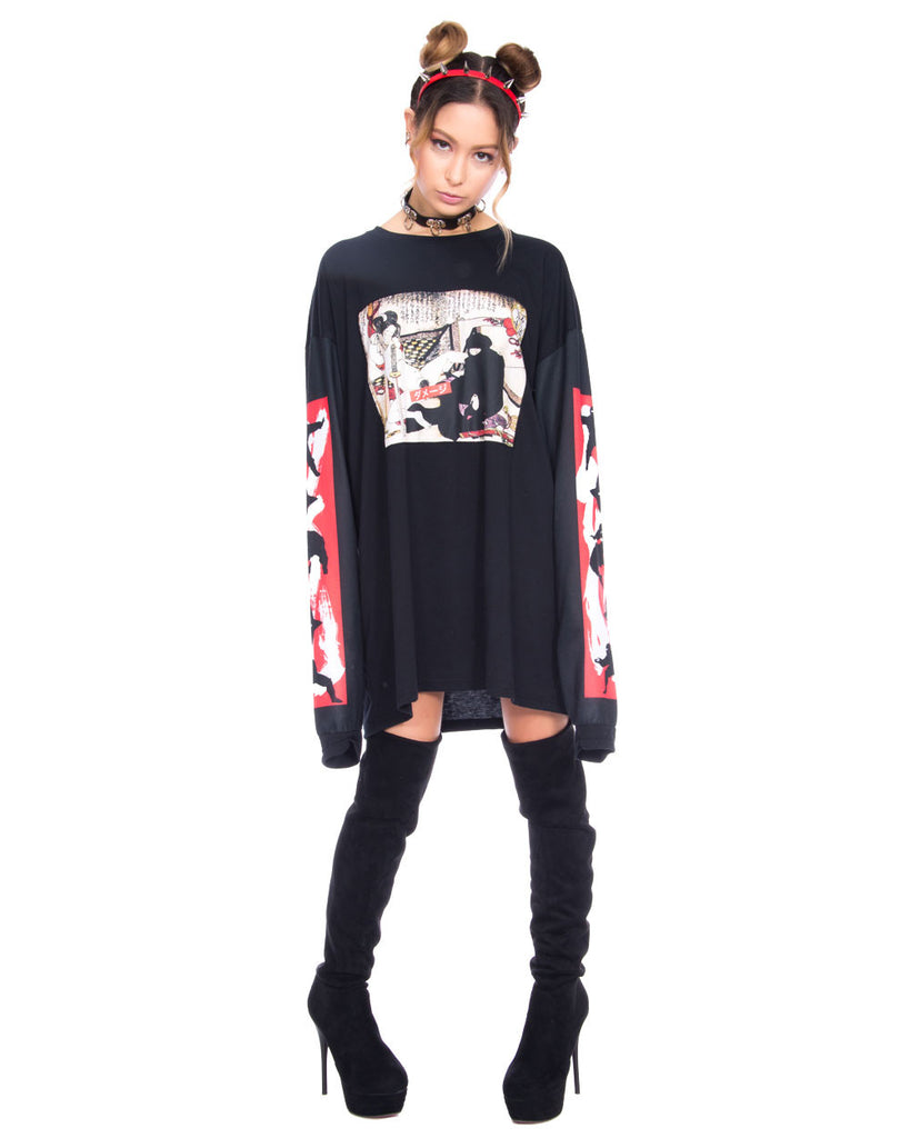 NINJA DRAGON UNISEX LONG SLEEVE TEE - Eros Mortis