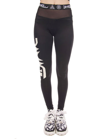 DAMAGE MESH LOGO LEGGINGS