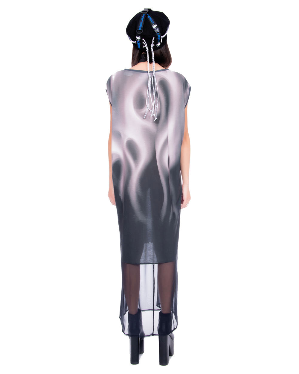 SMOKEY SHEER OVERSIZED MAXI DRESS - Eros Mortis