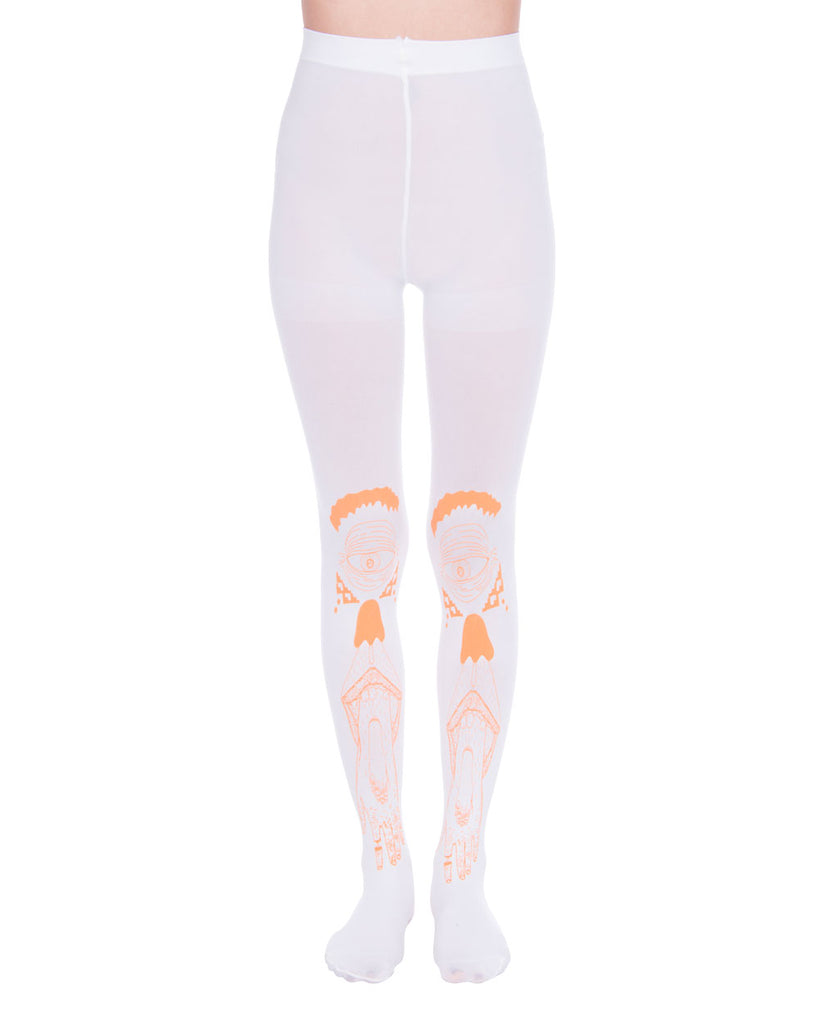 HAND EYE WHITE TIGHTS - Eros Mortis