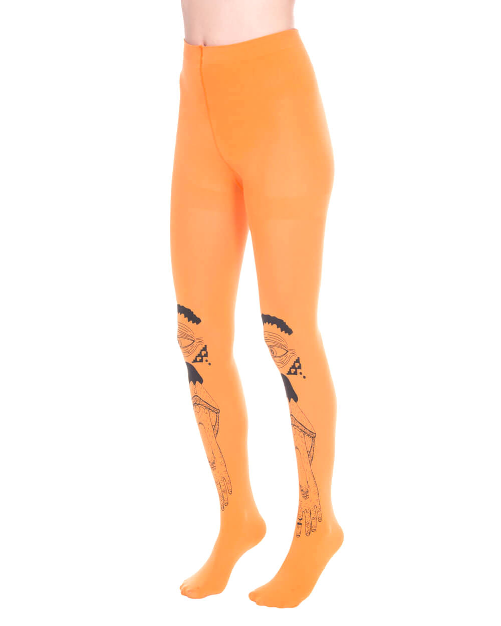 HAND EYE ORANGE TIGHTS - Eros Mortis