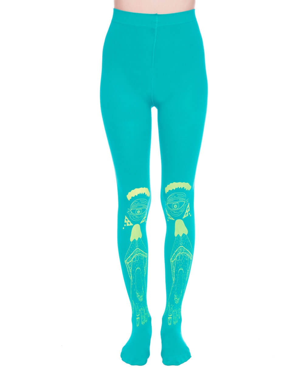 HAND EYE CYAN TIGHTS