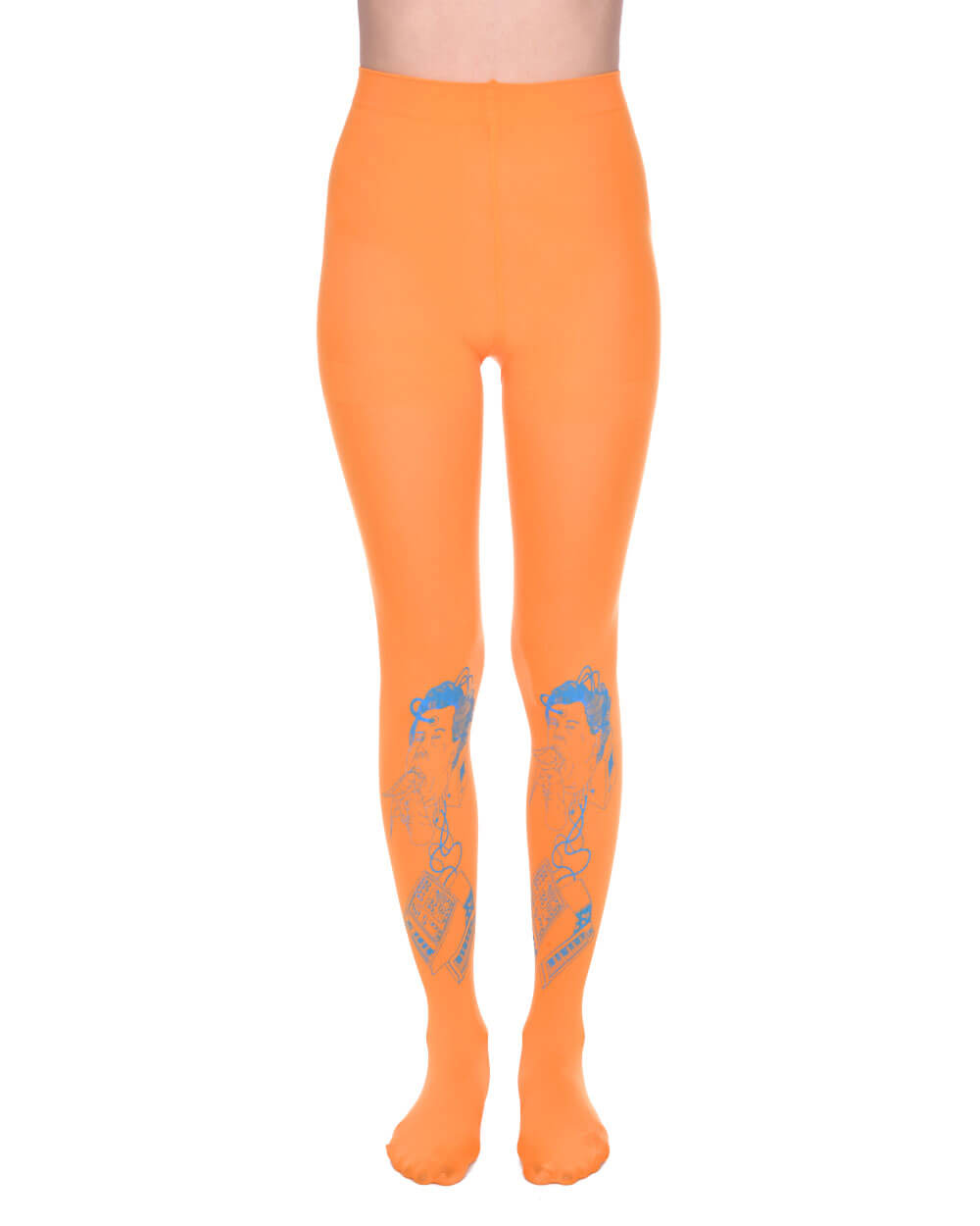 ELECTRO ORANGE TIGHTS - Eros Mortis