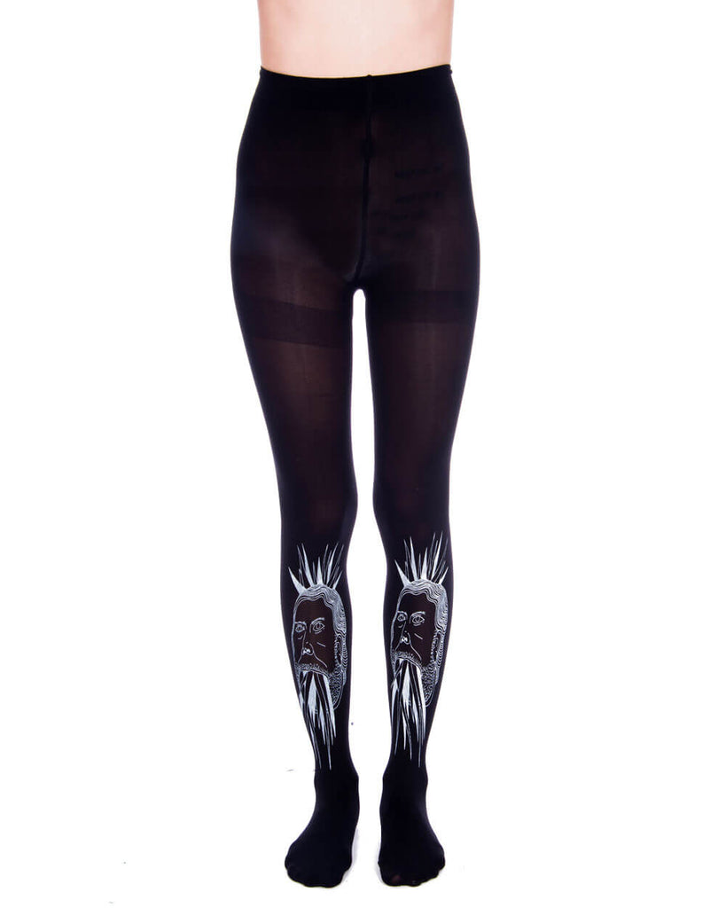 CRYSTAL MAN BLACK TIGHTS - Eros Mortis