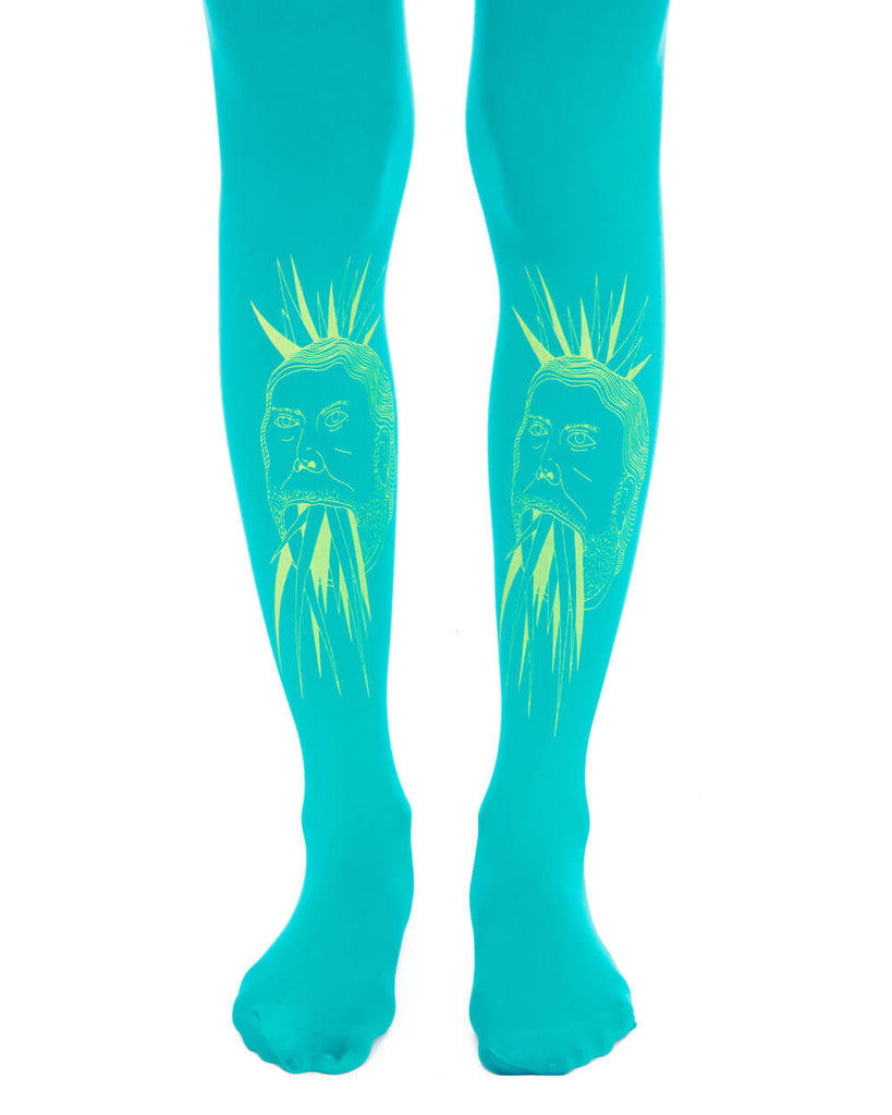 CRYSTAL MAN CYAN TIGHTS - Eros Mortis