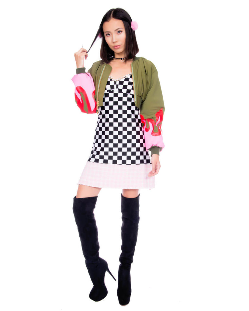 CHECKERBOARD DRESS - Eros Mortis