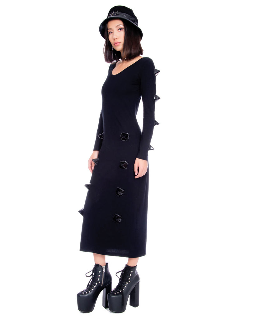 SPIKED LONG SLEEVE DRESS - Eros Mortis