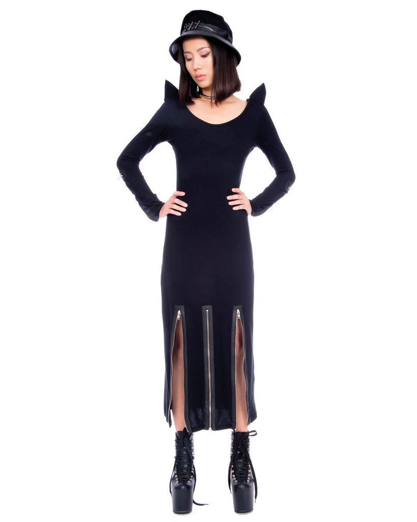 HORNS AND ZIPPERS DRESS