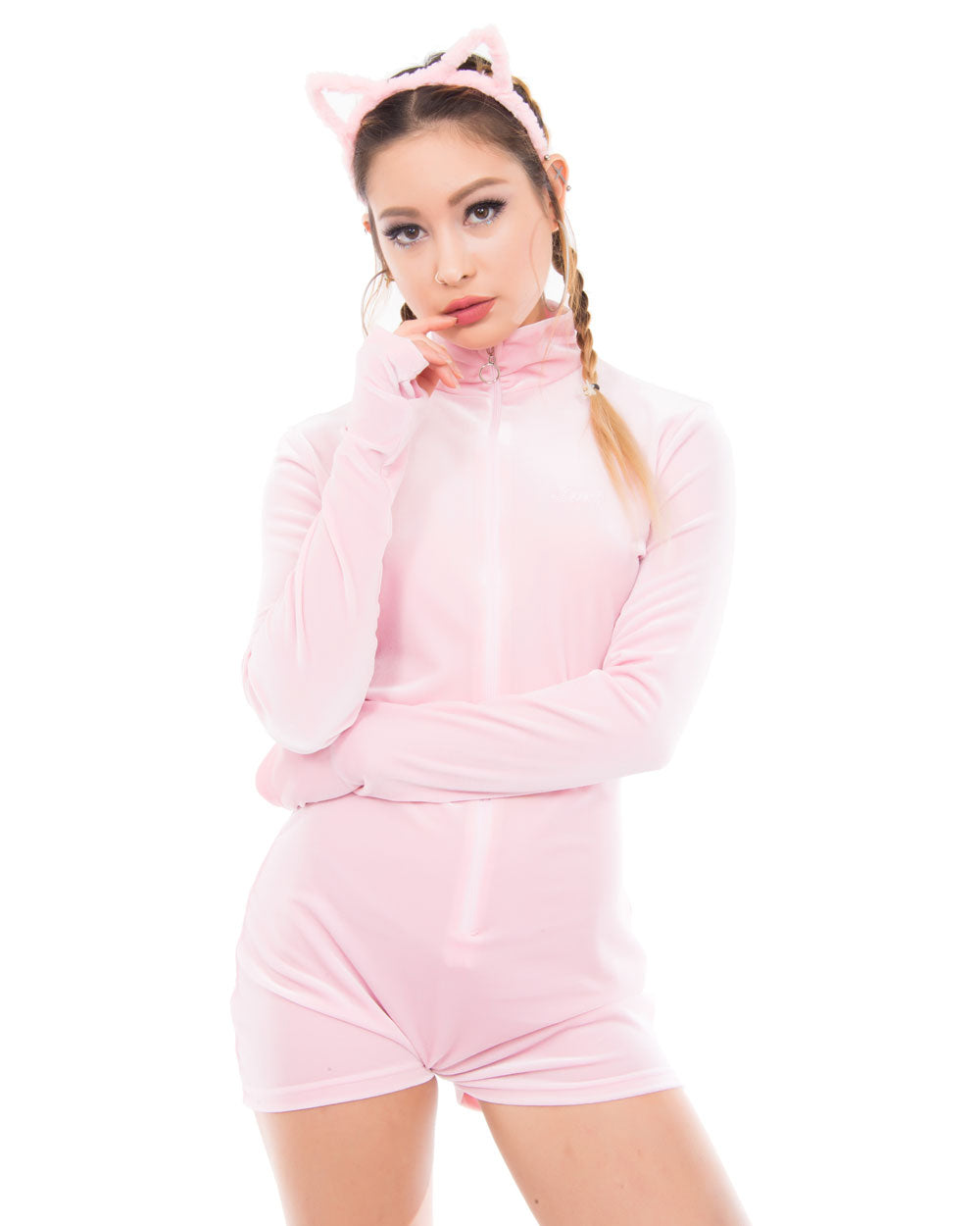 PINK FRIDAY VELVET BODYSUIT