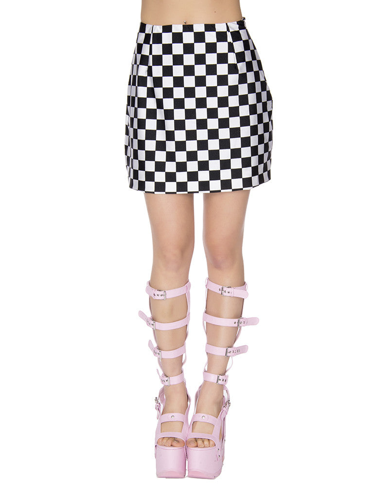 CHECKERBOARD MINI SKIRT - Eros Mortis