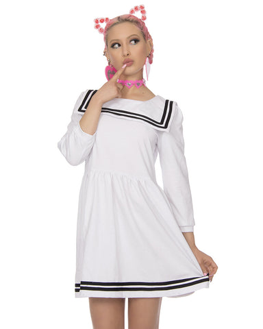 WHITE SAILOR DRESS - Eros Mortis