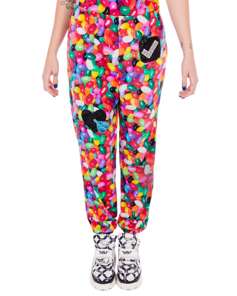 60803b0e2a Jelly bean dreams emoji track pants eros mortis jpg 800x1000 Emoji pants
