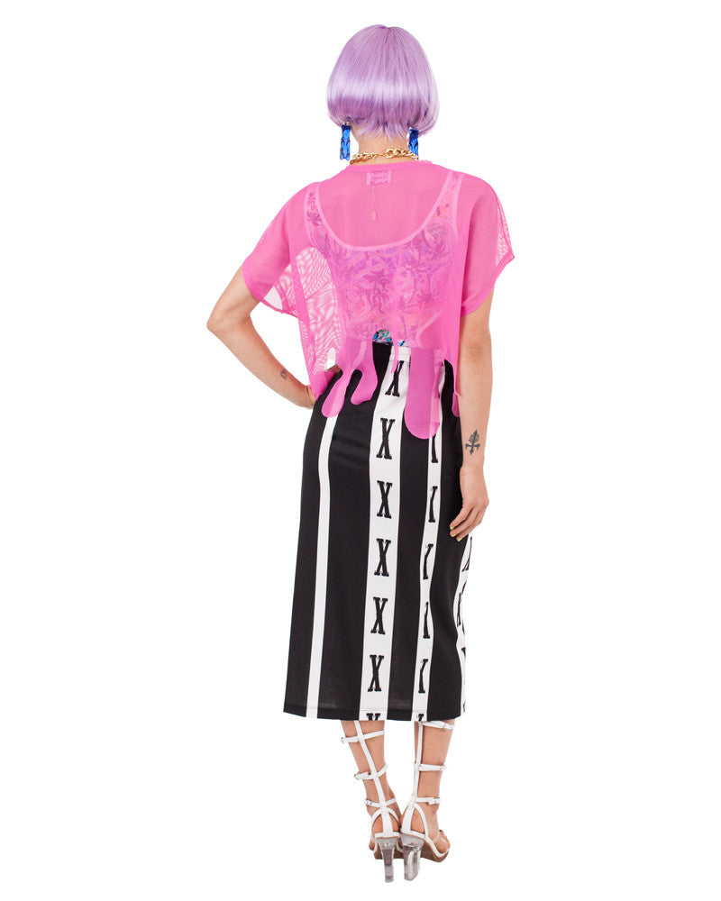 PINK DRIPPY CLICK CROP TOP - Eros Mortis