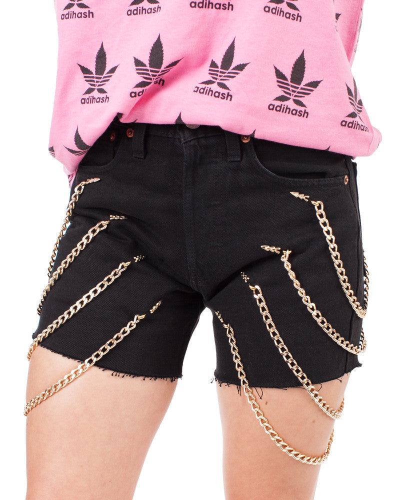 LEO DENIM CHAIN SHORTS - Eros Mortis