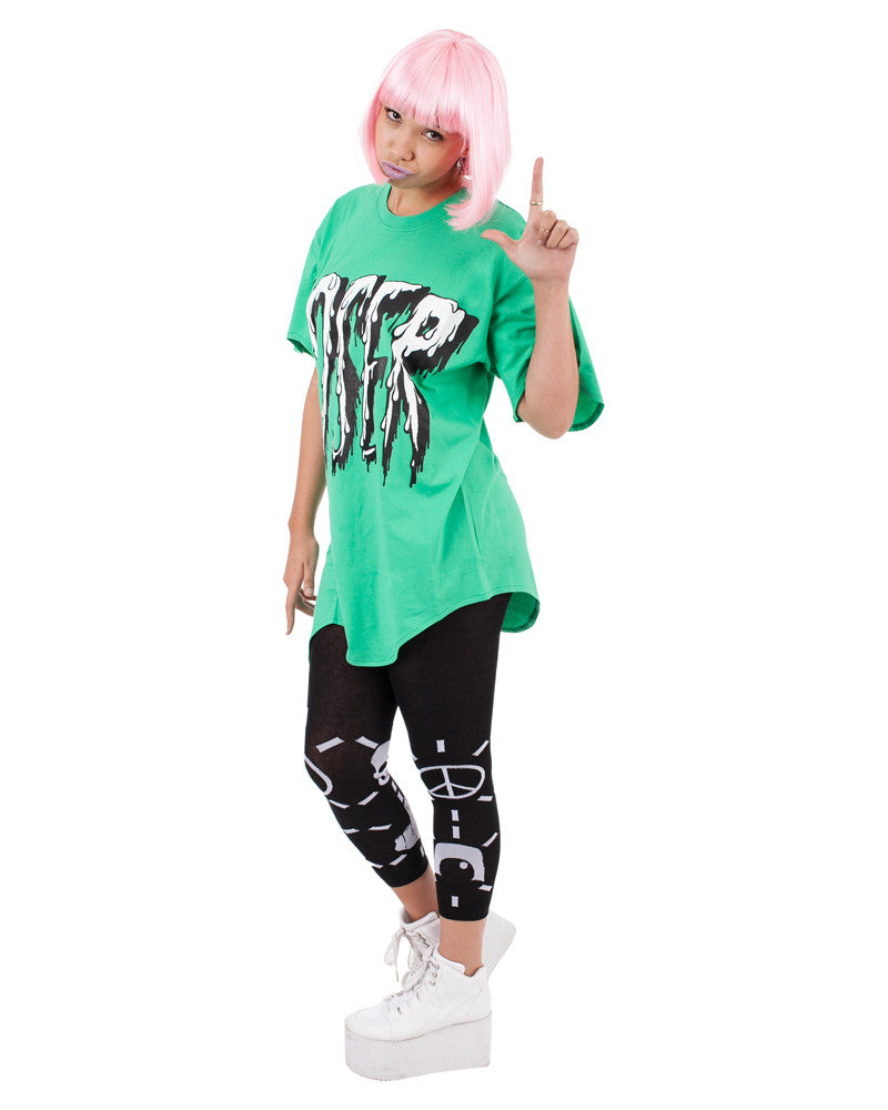 LOSER GREEN PRINT MELTED UNISEX TEE - Eros Mortis