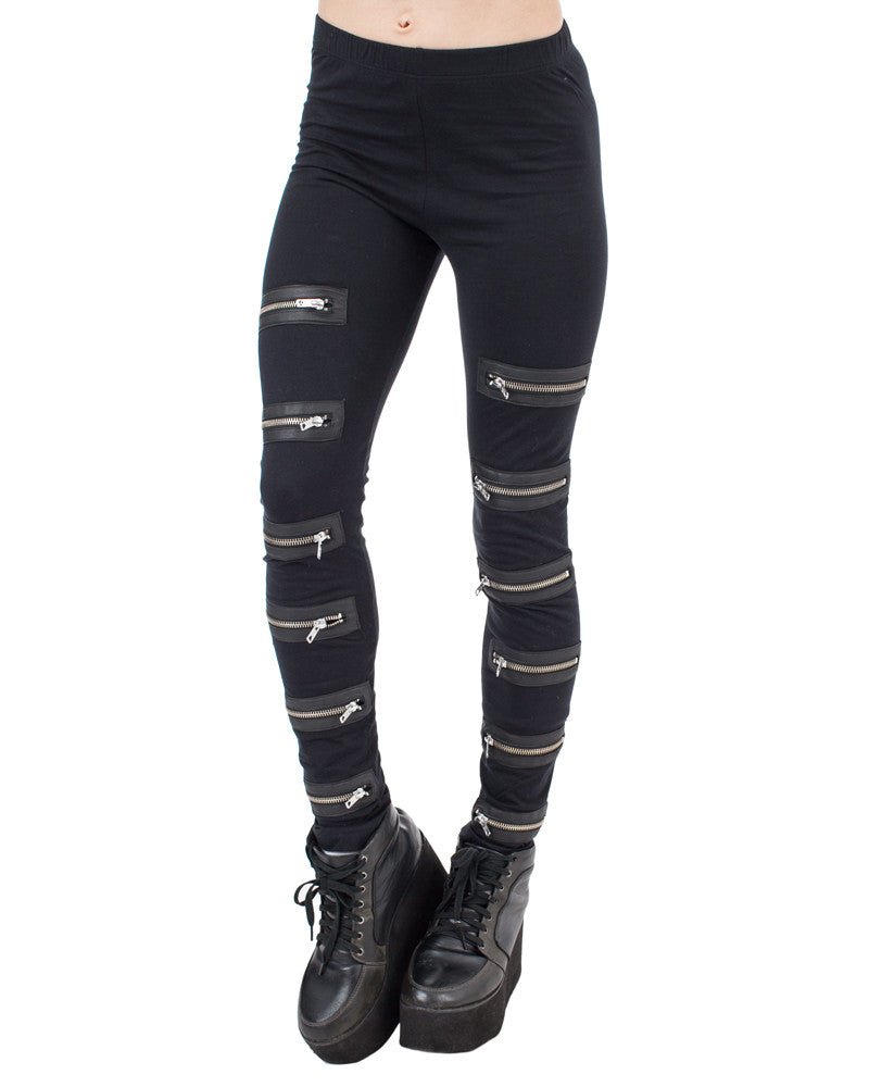 ZIPPER LEGGINGS - Eros Mortis