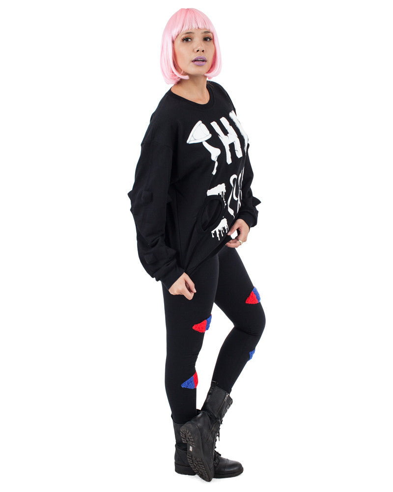 THE END PRINT SPIKE UNISEX SWEATER - Eros Mortis