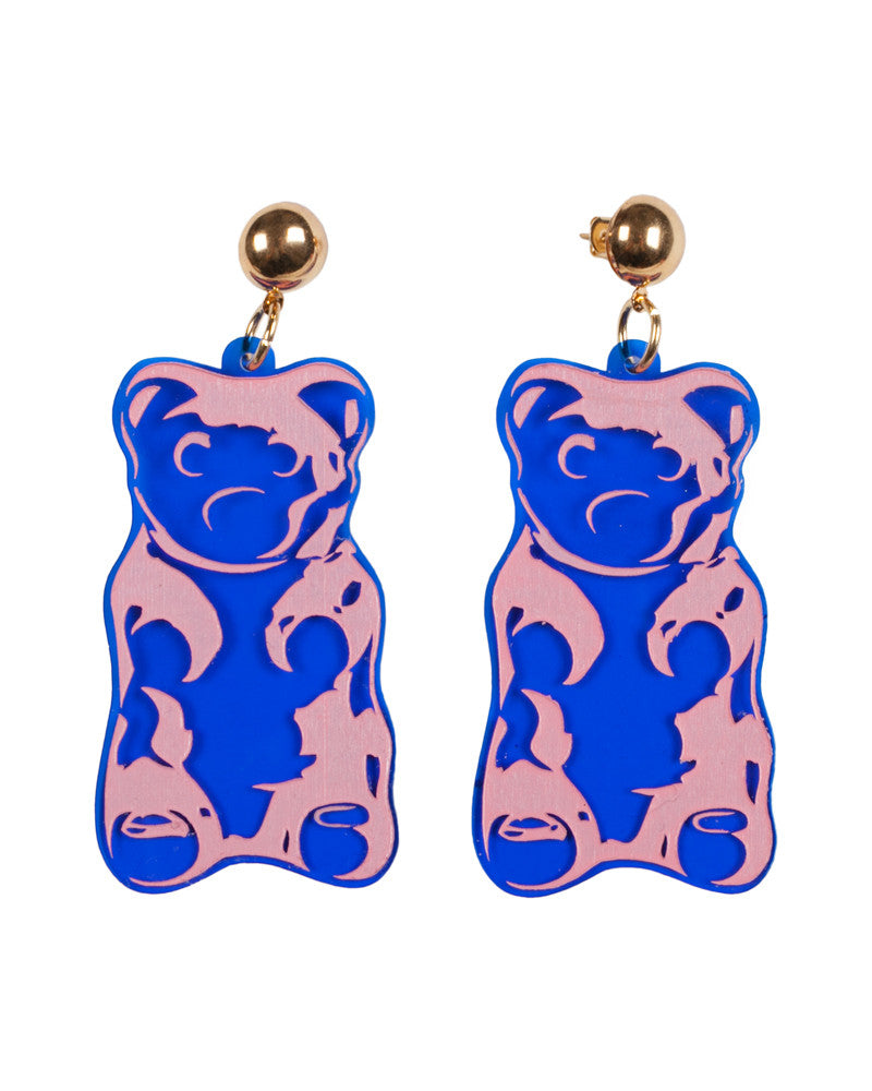 BLUE GUMMY BEAR EARRINGS - Eros Mortis