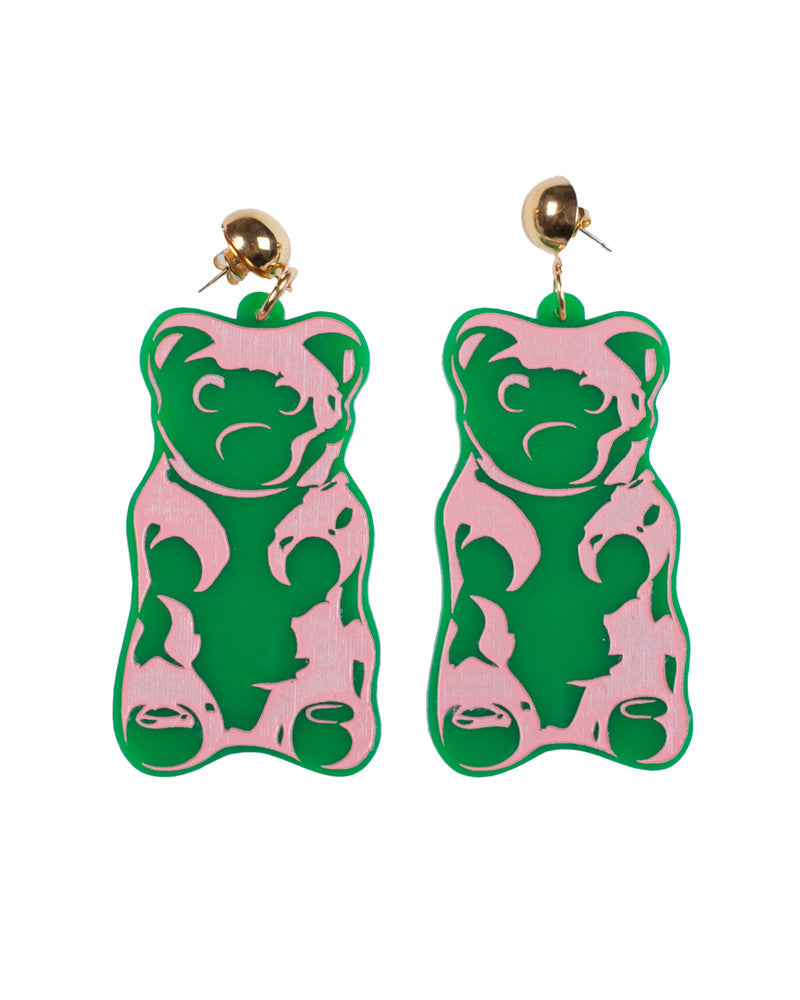 GREEN GUMMY BEAR EARRINGS - Eros Mortis