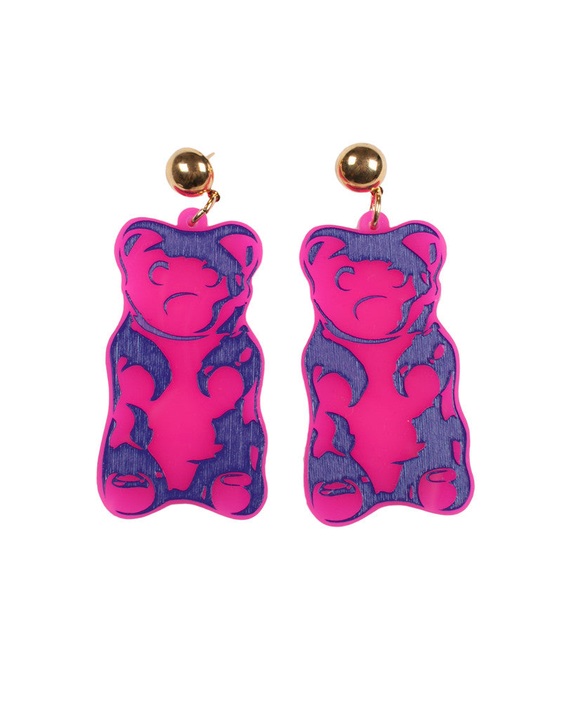 PINK GUMMY BEAR EARRINGS - Eros Mortis