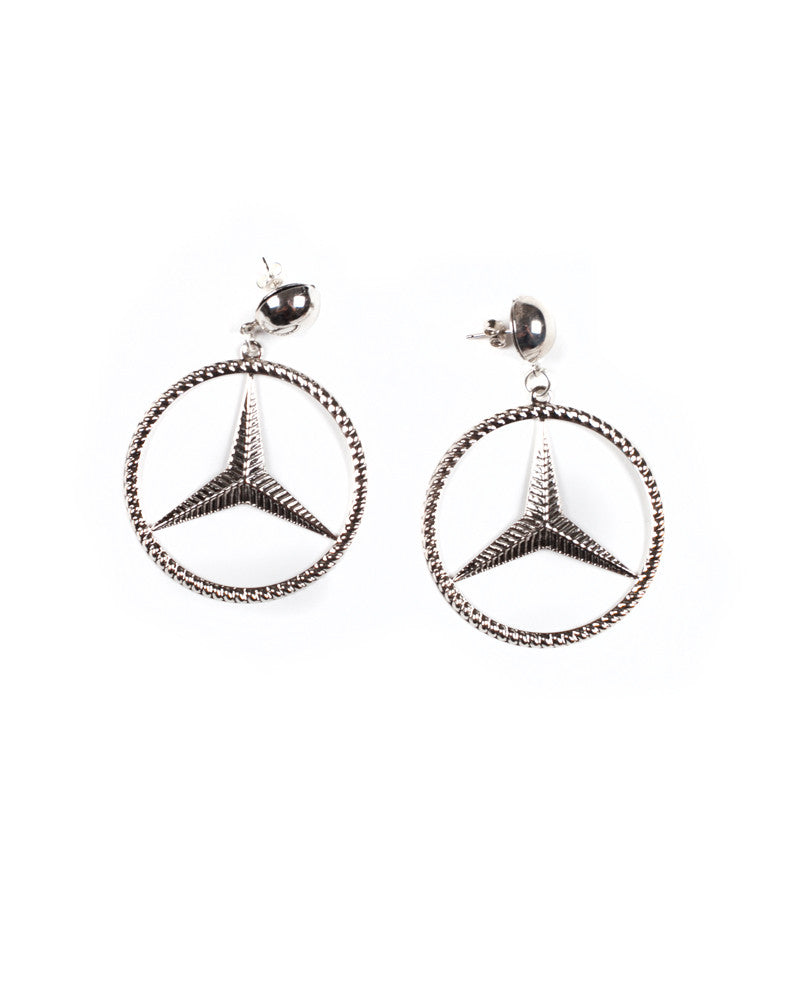 BENZ SILVER EARRINGS