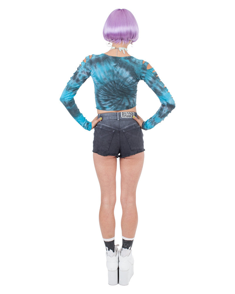 BAIT L/S BLUE LAGOON CROP TOP - Eros Mortis