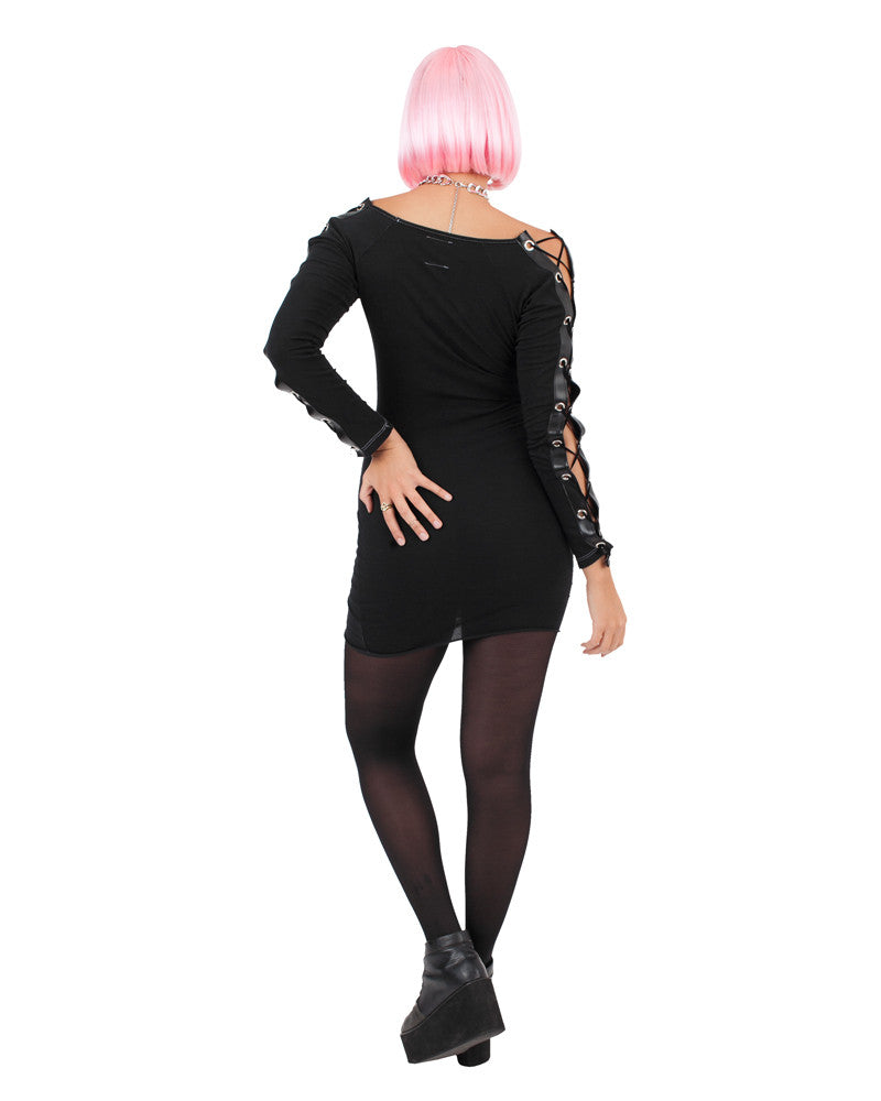 CHOPPER LACE-UP MINI DRESS - Eros Mortis