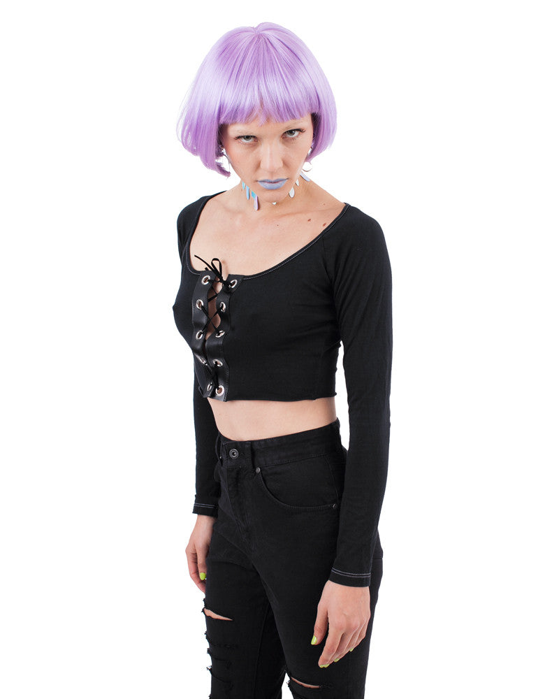 EASY RIDER LACE CROP TOP - Eros Mortis