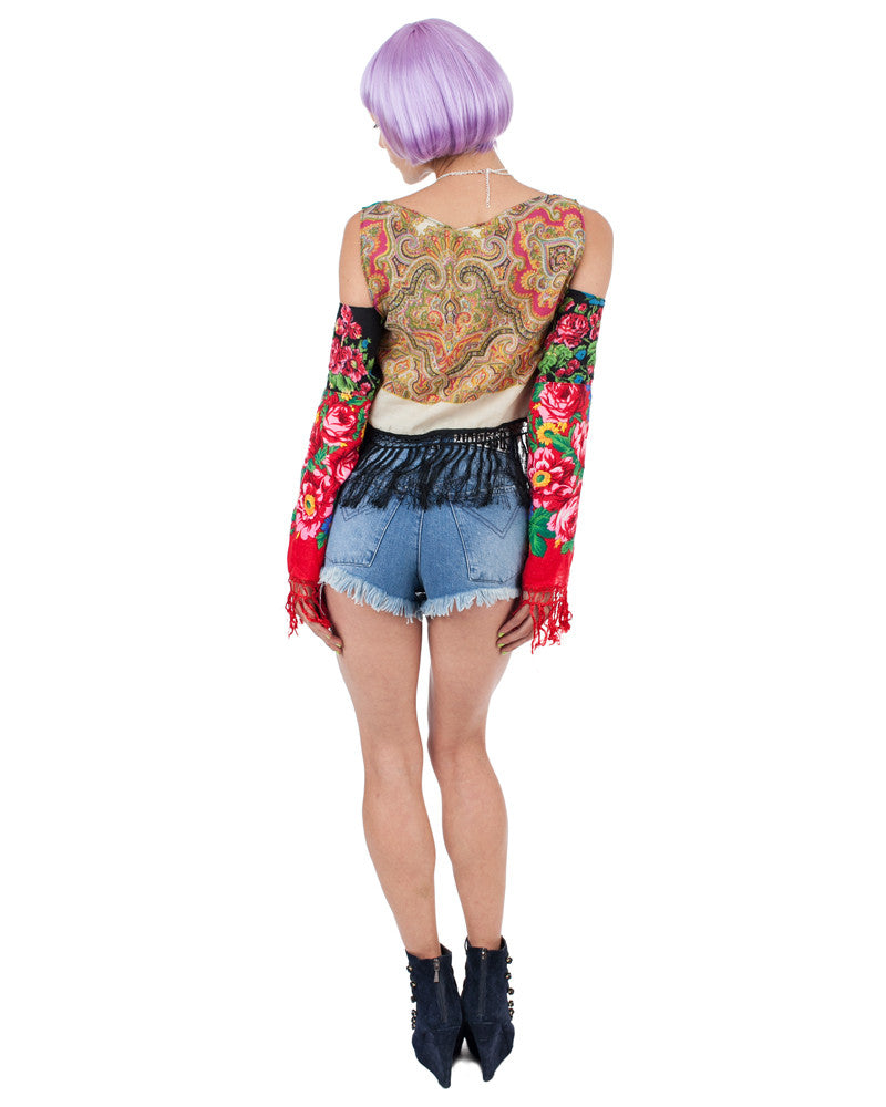 KORBEN BLUE DENIM SHORTS - Eros Mortis
