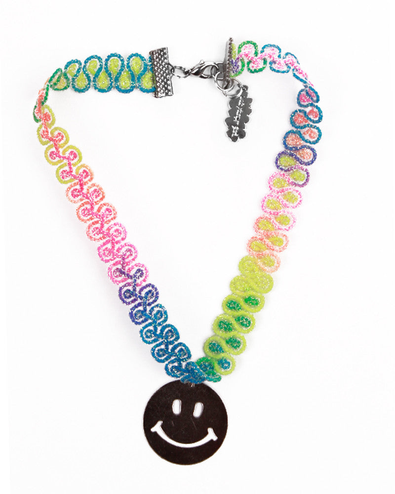 SMILEY FACE RAINBOW CHOKER - Eros Mortis