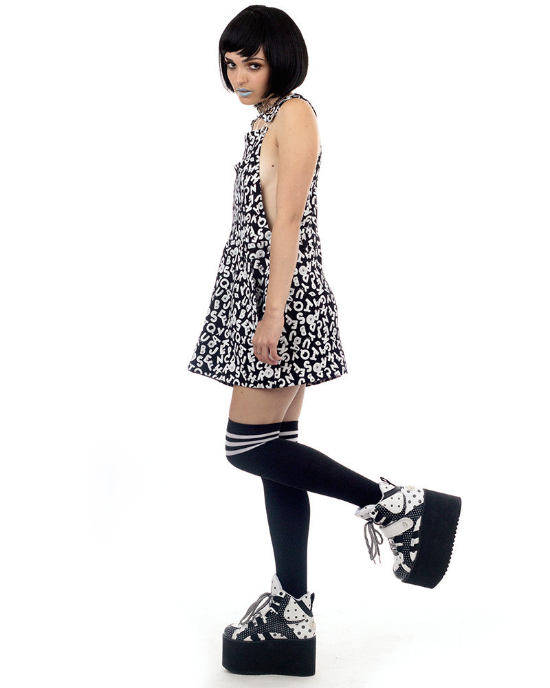 ABCD PRINT OVERALL DRESS - Eros Mortis