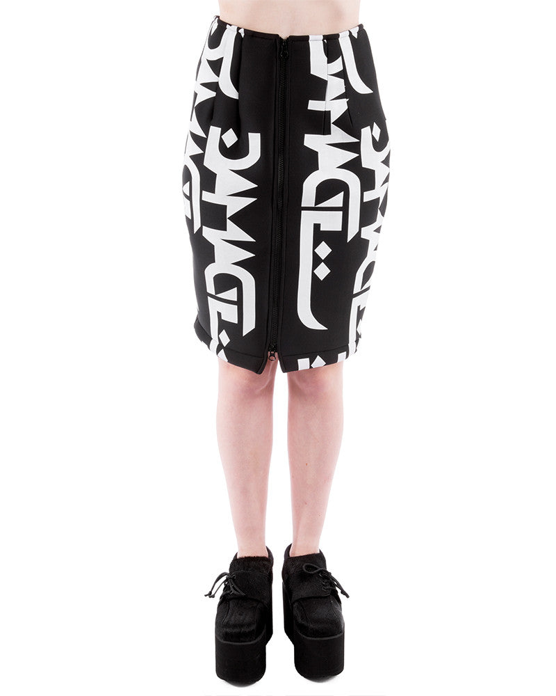 DAMAGE LOGO SCUBA SKIRT