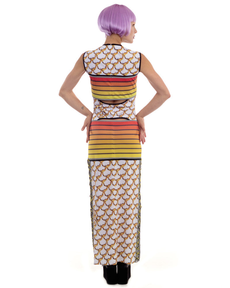 SCALES AND STRIPES MAXI DRESS - Eros Mortis