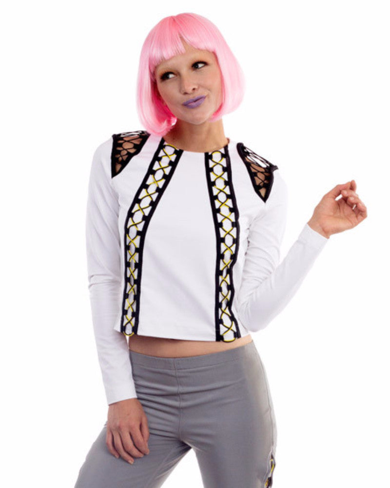WHITE COTTON SPORTY TOP - Eros Mortis