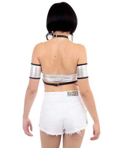 KORBEN WHITE DENIM SHORTS - Eros Mortis