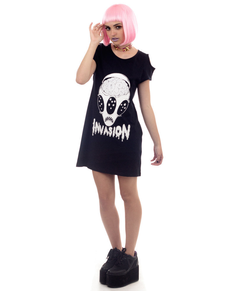 INVASION PRINT DRESS - Eros Mortis