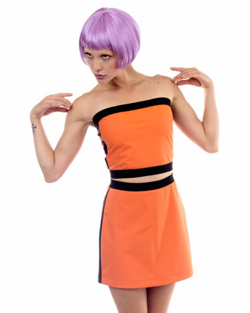 ORANGE RUBBER TUBE TOP - Eros Mortis