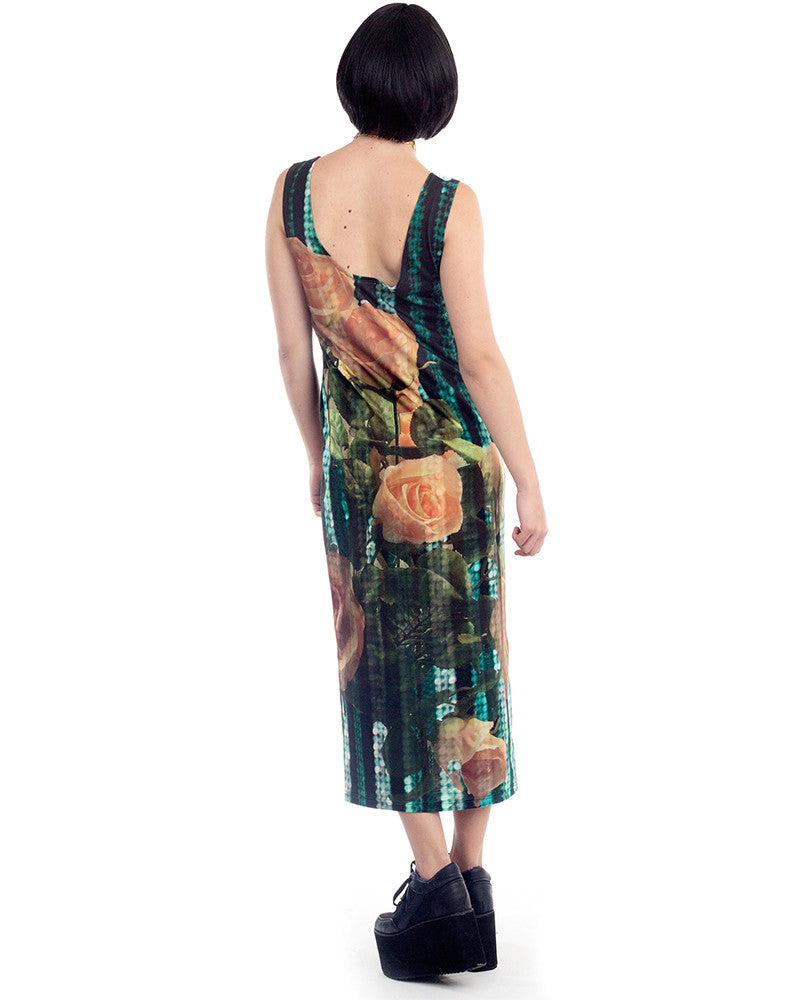 CABARET ROSES MAXI DRESS - Eros Mortis