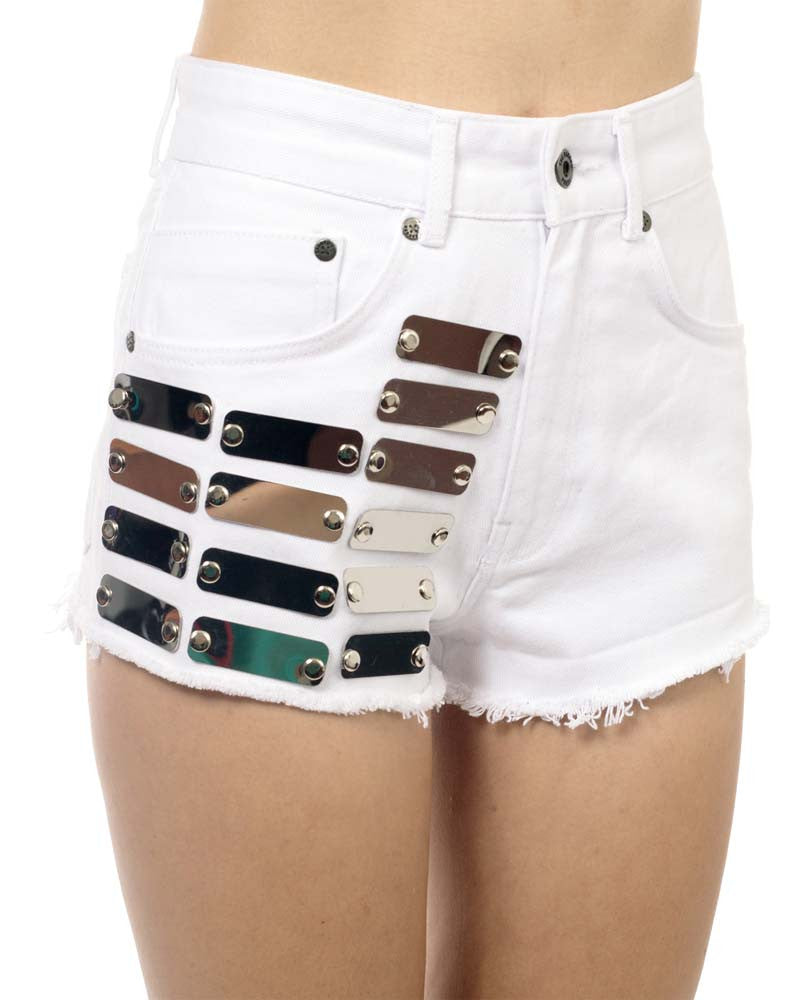 PRISS DENIM SHORTS - Eros Mortis
