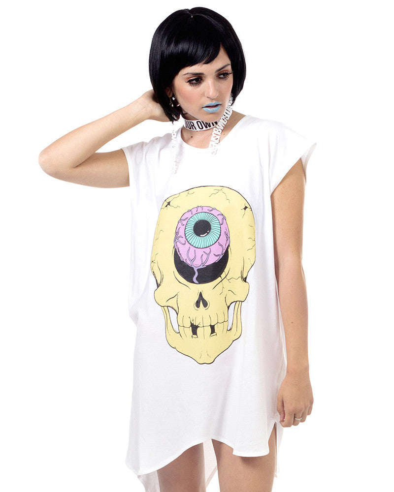 SKULL PRINT DRESS - Eros Mortis