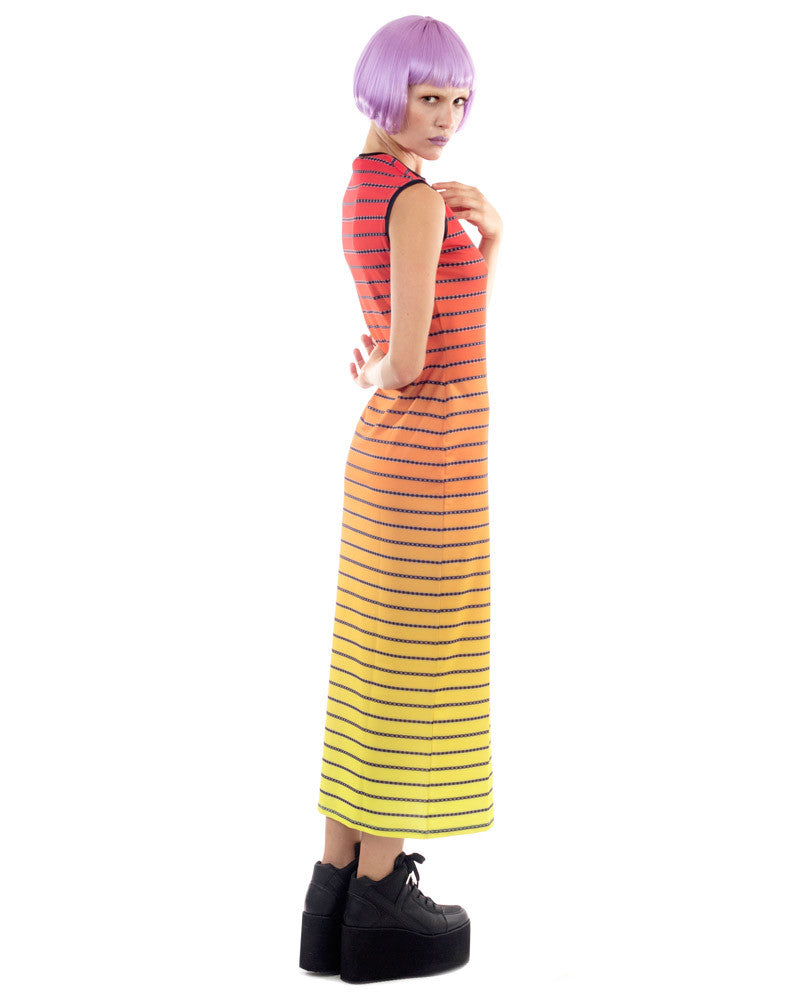SUNSET STRIPES MAXI DRESS