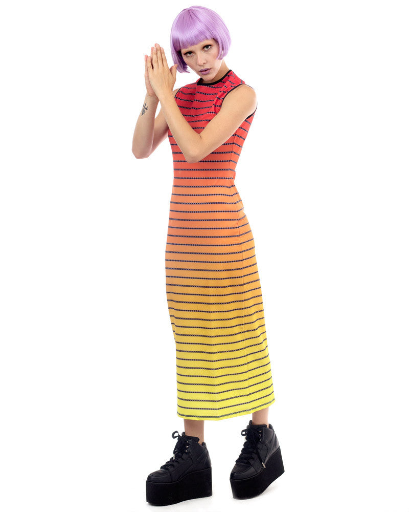SUNSET STRIPES MAXI DRESS - Eros Mortis