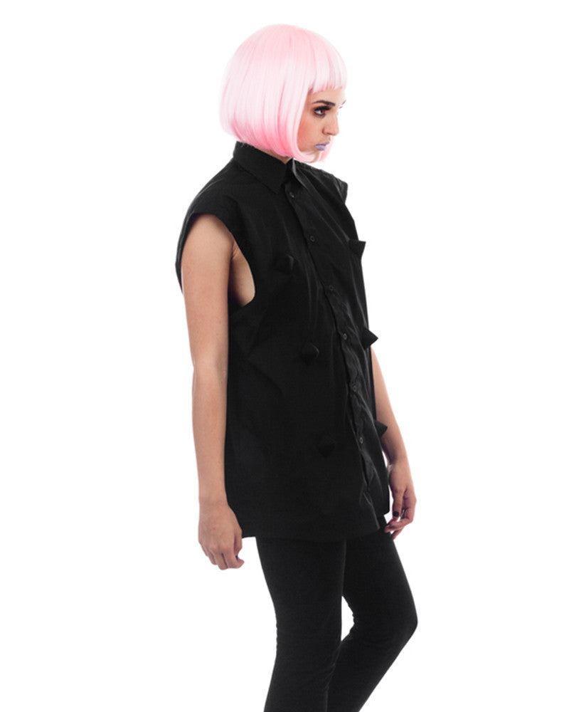 SPIKES SLEEVELESS SHIRT - Eros Mortis
