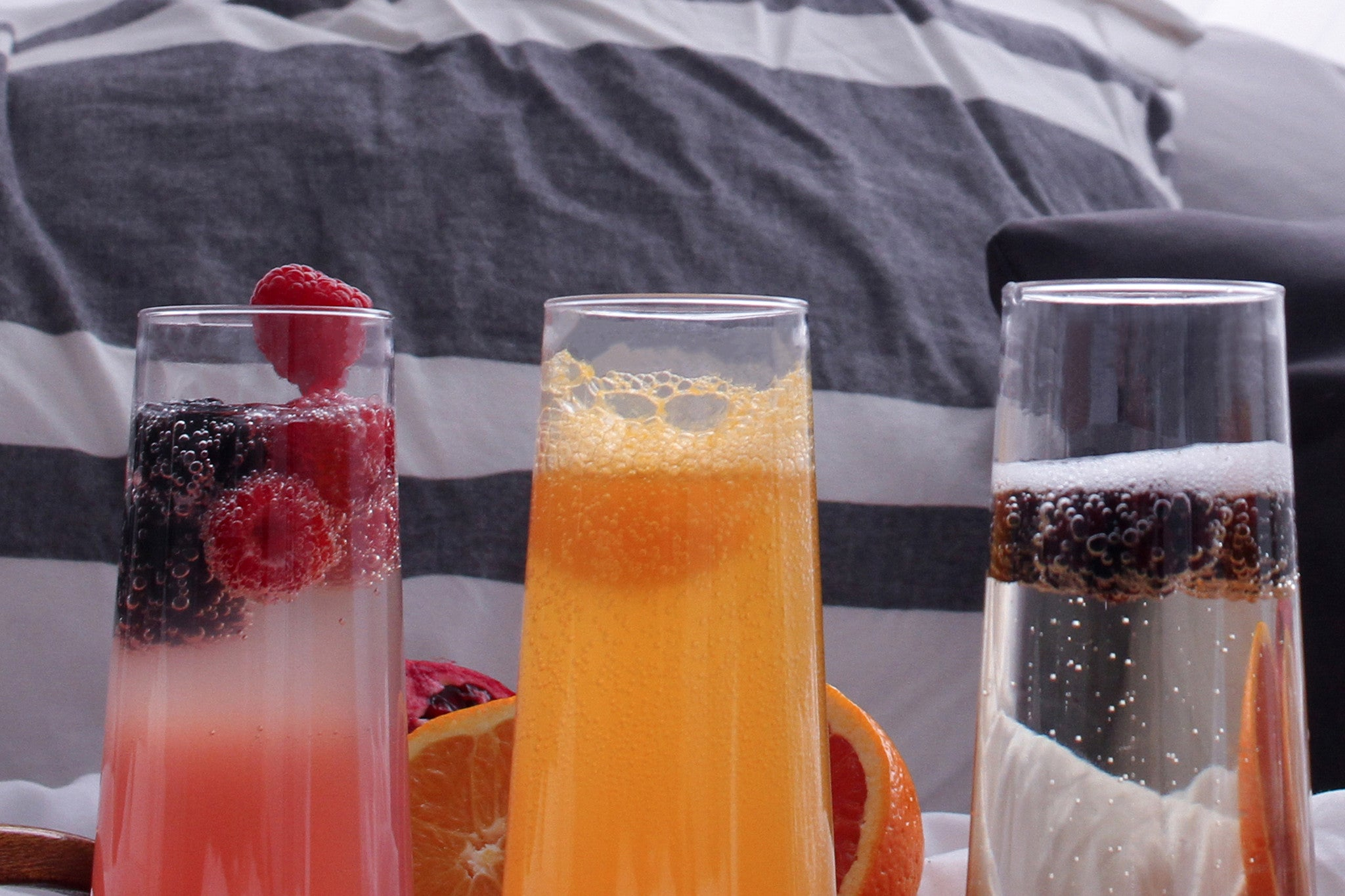 Mother's Day Mimosa recipe, Raspberry Lemonade mimosa, TOSSWARE Champagne flute