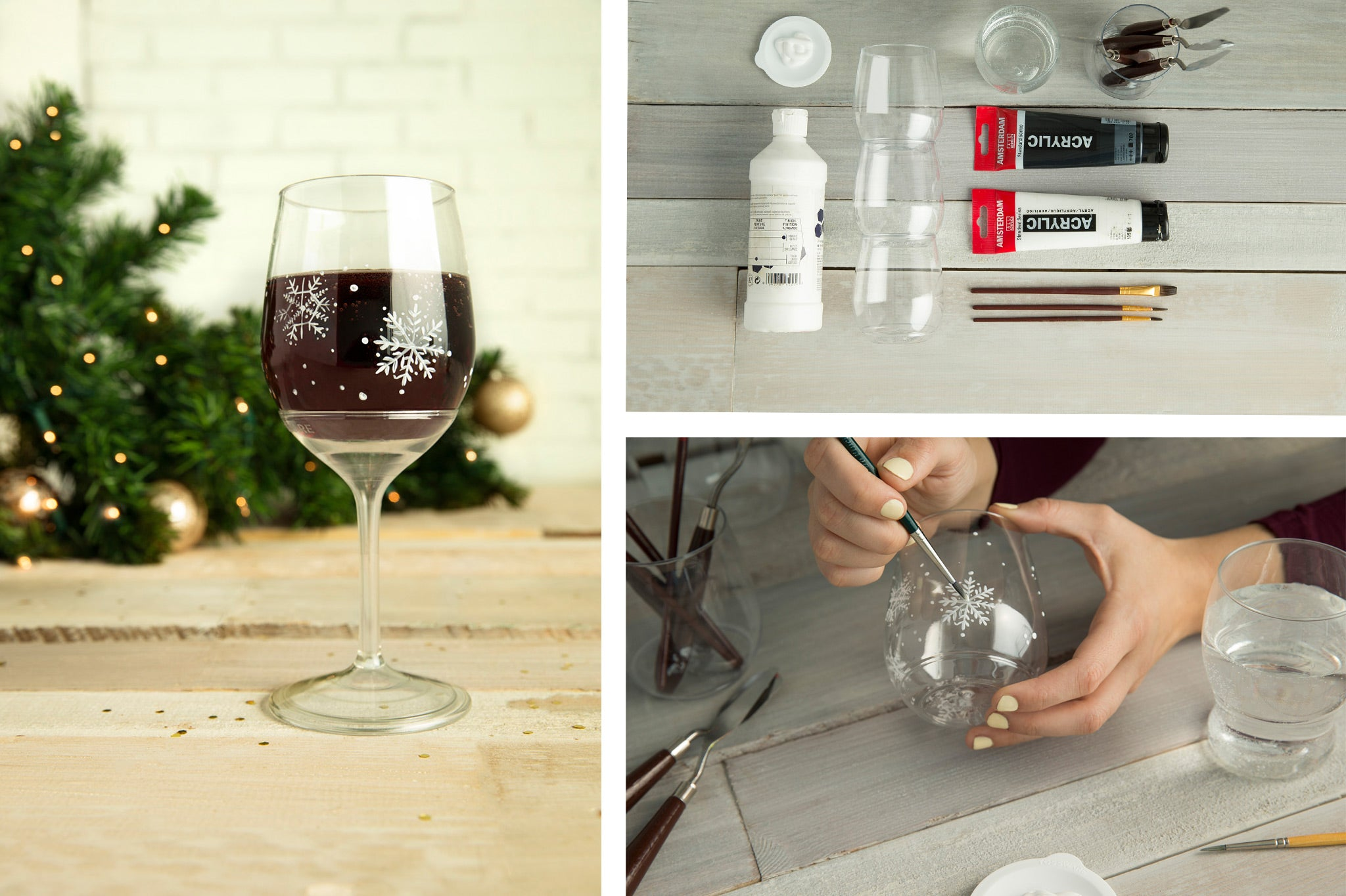 How to Paint Wine Glasses for Christmas