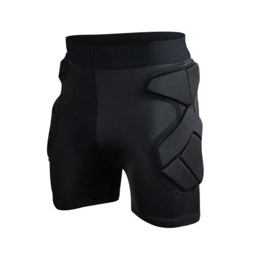 Men's Sport Soccer Basketball  Shock Rash Guard goalkeeper Padded Shorts Pants