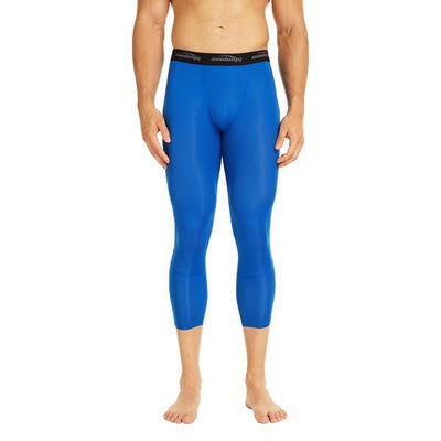 COOLOMG Blue Compression Pants Running Tights Pants & 3/4 Tights Leggings Quick Dry