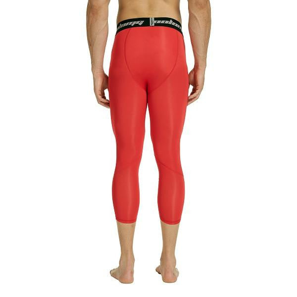 RED 3/4 Compression Tights
