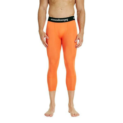 Orange 3/4 Compression Tights